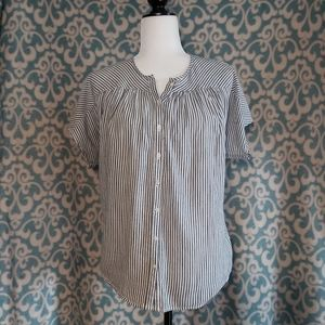Old Navy Striped Oversized Short Sleeve Top